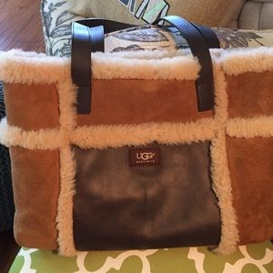 Ugg tan and brown shoulder bag
